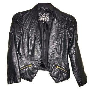 Black faux leather jacket/blazer